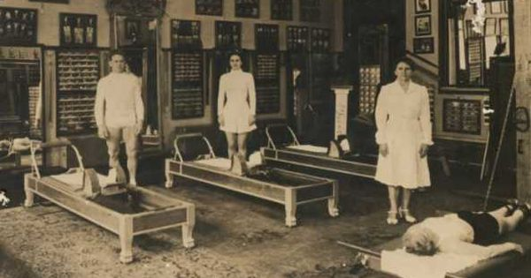 Joseph Pilates, Mary Pilates (his niece), and Clara ...