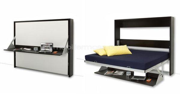 Mueble multifunci n cama donny con escritorio plegable - Muebles con cama plegable ...