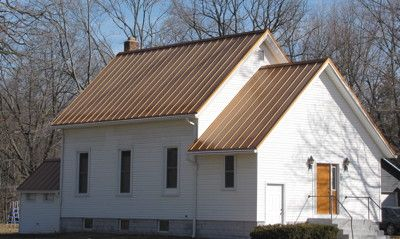 Copper Colored Metal Roofing Metal Roof House Exterior Barn Style Shed