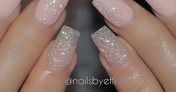 Light Pink Matte w/ Glitter Accent or Gradient Accent on ...