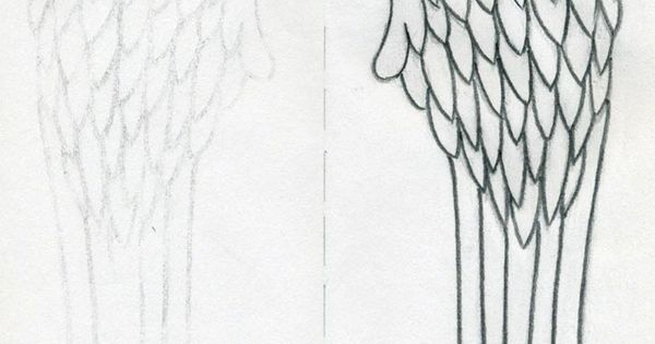 Angel Wings Outline How To Draw Angel Wings Quickly In