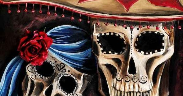 Mexican Sugar Skull Painting by Renee Keith | The Day Of The