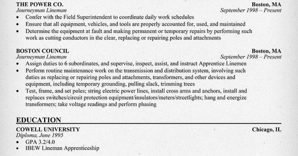 #Journeyman Lineman Resume Sample (resumecompanion.com)