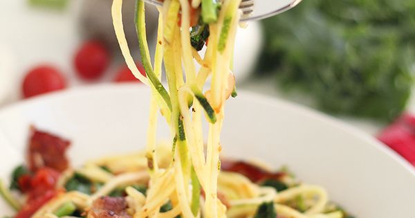 BLT Zucchini Pasta - Take out tomato for AIP