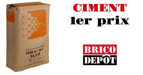 qualit ciment 1er prix brico d pot http blog brico. Black Bedroom Furniture Sets. Home Design Ideas
