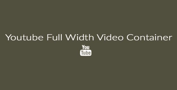 Full Width Youtube Video Container By Musewidget With This Widget You Can Make A Full Width Youtube Video Container For Example A Youtube Videos Youtube Video