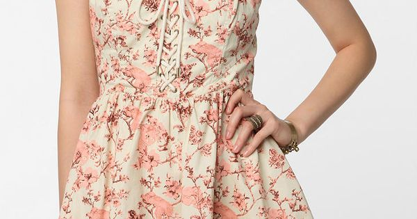 Betsey Johnson Lace-Up Tea Party Dress, would be so cute with cowboy