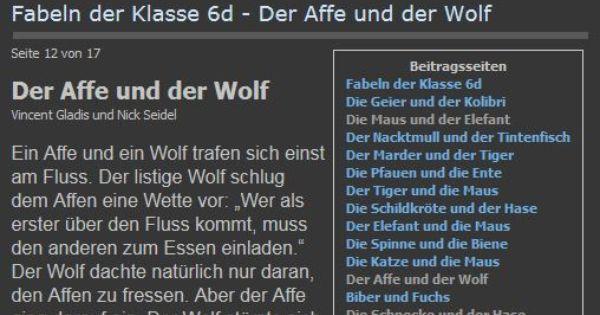 Fabelbuch Der Klasse 6c Des Carlo Schmid 0