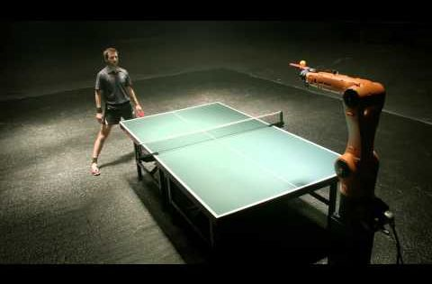 Table Tennis Champion To Face Off Against Robot In March Table Tennis Robot Ping Pong Table Tennis