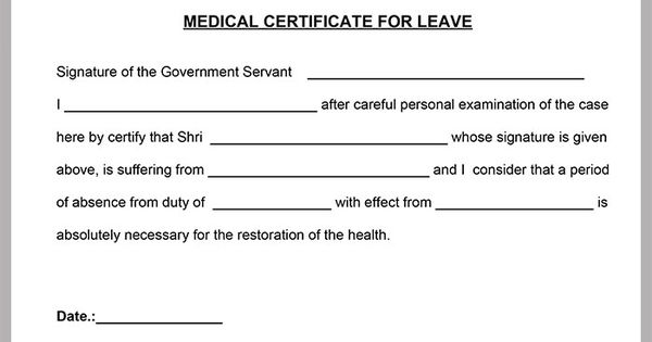 MedicalCertificateTemplate Places to Visit – Medical Certificate Template