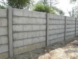 Compound Wall Construction Cinder Block Walls Fence Construction Concrete Block Walls