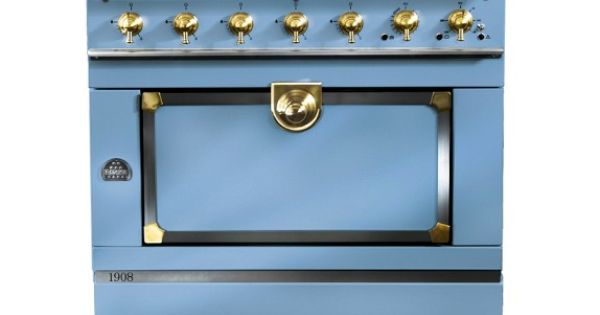 la cornue cornuf 1908 stove blue brass la cucina. Black Bedroom Furniture Sets. Home Design Ideas