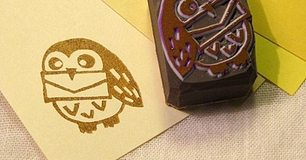 Owl Postman By Cathands On Etsy Harry Potter Owl Stamp Carving Stamp Crafts