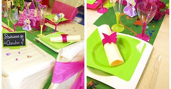 D Coration De Table D 39 Anniversaire Princesse Pour Un