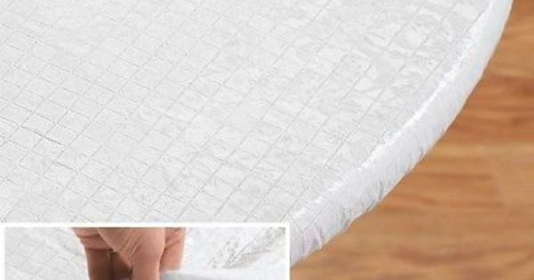 Elasticized Quilted Vinyl Table Pad 48 Round Dining Kitchen