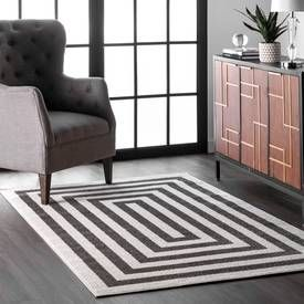 Rugs Usa Black And White Granite Regent Borders Rug Casuals
