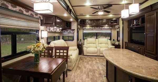 Dark Cabinets With Light Floor I Like This One Rv Remodel Ideas Pinterest Trailer
