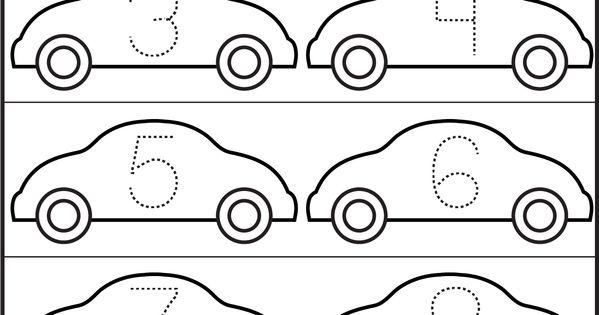 cars number tracing 1 10 printable worksheets pinterest number tracing worksheets and cars. Black Bedroom Furniture Sets. Home Design Ideas