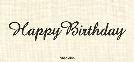Happy Birthdayの文字に合う イイ感じな手書き欧文フォント Happy Birthday Project 誕生日 文字 刺繍 図案 バースデーカード 手書き
