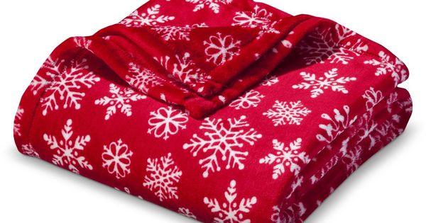 snowflake plush throw blanket red 50 x60 christmas pinterest. Black Bedroom Furniture Sets. Home Design Ideas