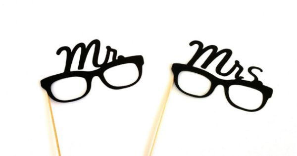 Super-cute His and Hers eyeglasses props. Wouldn't these be awesome for a