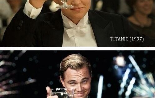 And heres Leo toasting 17 years apart. | 43 Things That Will