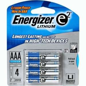 Cool Energizer Lithium Aaa 1 5v High Energy Lithium E2 Battery 2 X Card 4aaa