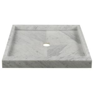 Allure 36 In X 36 In Shower Pan In Carrara 78118 At The Home