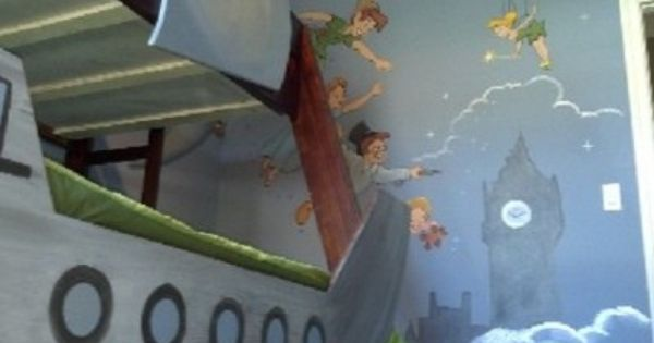 Pirate Ship Bunk Bed With Peter Pan Tinkerbell And The Gang