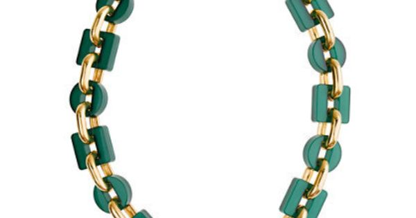 Shiny resin link necklace $108 @ j. crew to wear with white