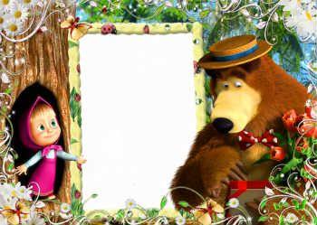 Molduras Para Fotos Gratis Online Categoria Masha E O Urso Masha E O Urso Festa Masha E O Urso Lembrancinha Masha E Urso