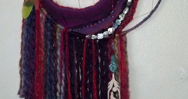 Dream catcher weaving by sk8glitz on etsy for Dreamcatcher weave patterns