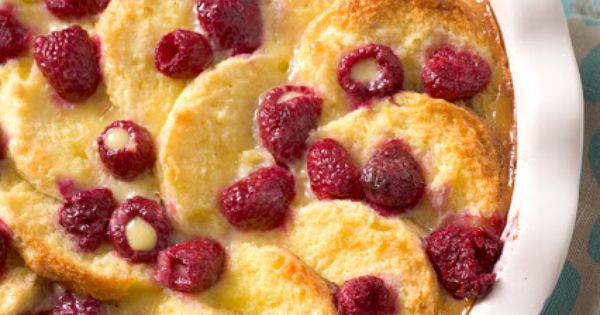 This White Chocolate Raspberry Biscuit Bread Pudding is ...