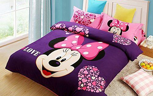 Minnie Mouse Purple Bedding Set Purple Bedding Little Girls Bedding Sets Mickey Mouse Bedding