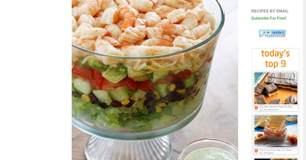 Mexican Shrimp Cobb Salad! | Food | Pinterest | Mexican Shrimp, Cobb ...