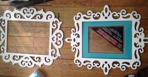 11x14 laser cut wood frames  maybe black with a burlap frame and a black s in the center
