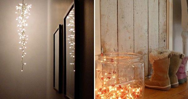 lichterkette im glas lichter pinterest lichterketten deko lichterkette und marmeladengl ser. Black Bedroom Furniture Sets. Home Design Ideas