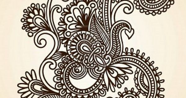 Paisley design. I love the abstract whimsical nature of paisley prints. Would