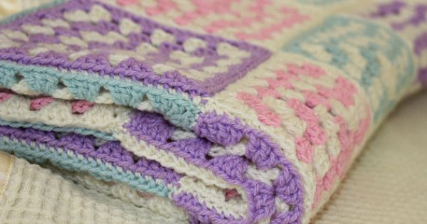 Crochet Baby Blanket crochet -love the color combo