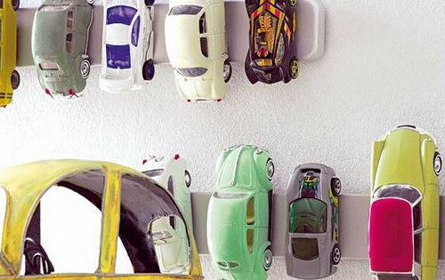 DIY toy storage: magnetic toy car storage trick- magnetic knife holder- IKEA
