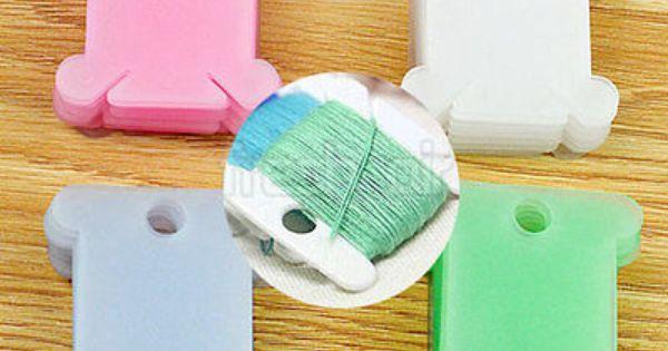 100x Plastic Thread Bobbins for Cross Stitch Embroidery Floss/&Craft Storage