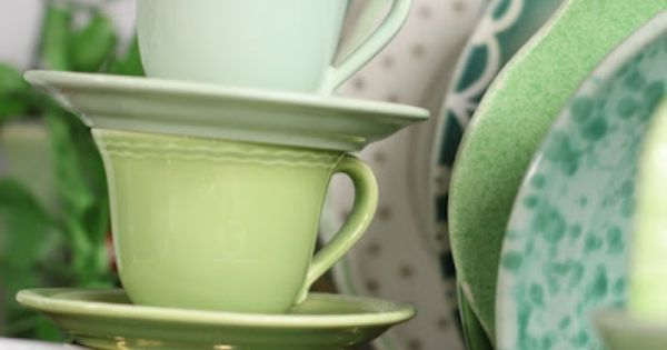 Tea time. mint green, spring green, leaf green