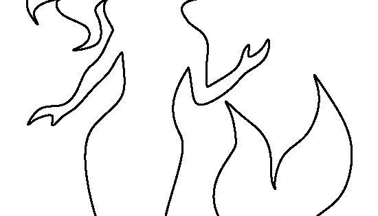 Mermaid pattern. Use the printable - 17.1KB