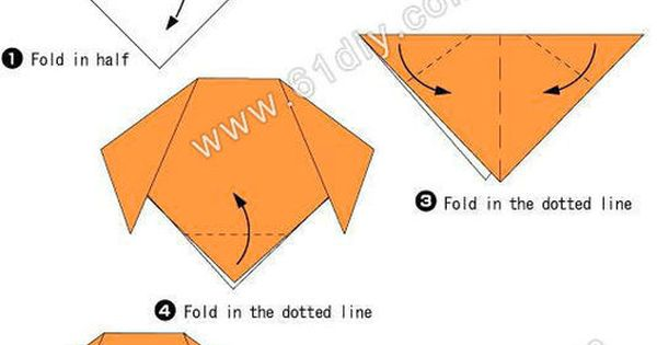 origami dog face instructions