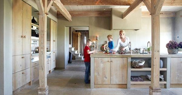 Moderne keuken oude boerderij google zoeken boerderij woonkeuken pinterest boerderij - Deco oude keuken ...