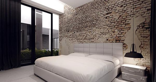 astounding bedroom brick wall | Great wall.. | White/Grey Washed Brick Walls/Floors ...