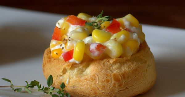 savory pate a choux recipe savory choux pastry filled with corn and peppers these