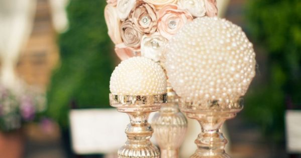 pearl centerpieces weddings - Google Search