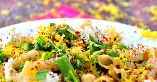 Goat cheese pasta, Pasta salad and Asparagus on Pinterest
