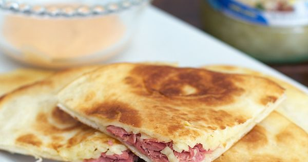 Reuben Quesadillas | Recipe | Quesadillas, Traditional and ...